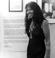 in front of my mission statement for Old Harlem New Harlem Exhibit